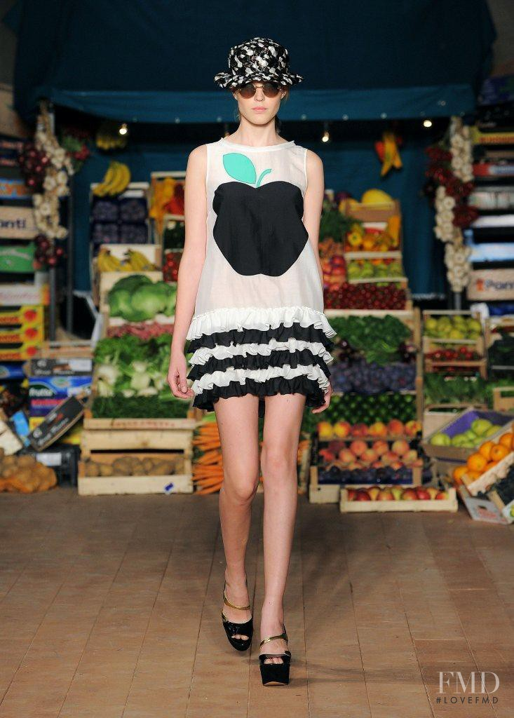 Linnea Regnander featured in  the Boutique Moschino fashion show for Spring/Summer 2012