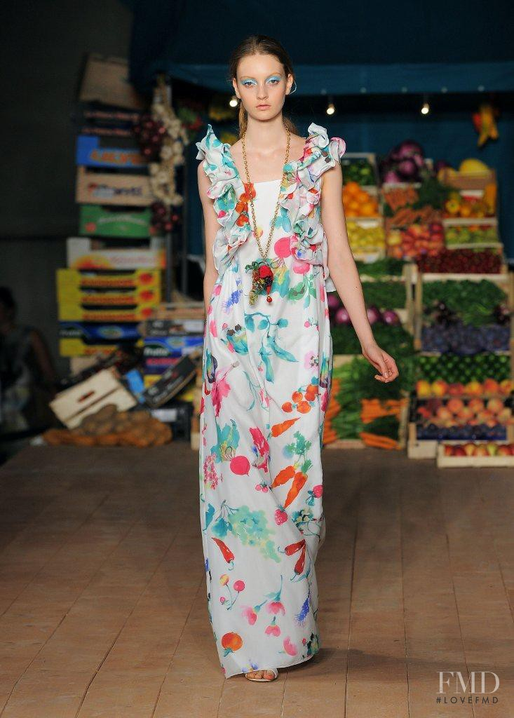 Codie Young featured in  the Boutique Moschino fashion show for Spring/Summer 2012
