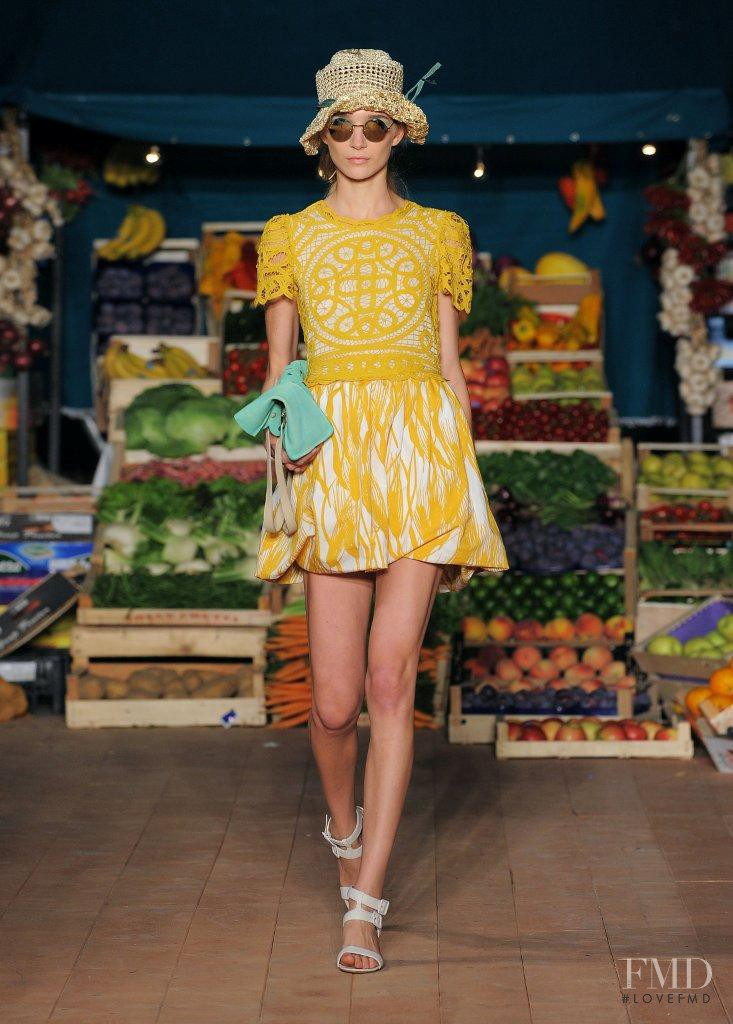 Janice Alida featured in  the Boutique Moschino fashion show for Spring/Summer 2012