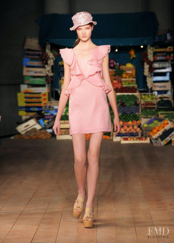 Anastasia Ivanova featured in  the Boutique Moschino fashion show for Spring/Summer 2012
