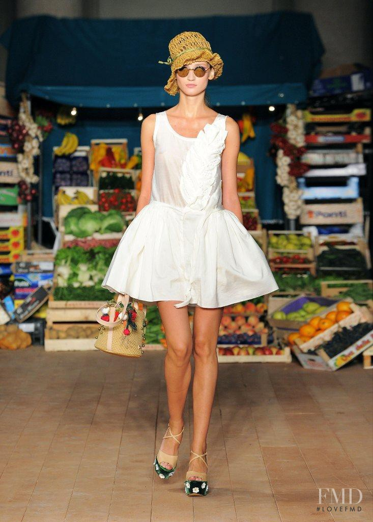 Alex Yuryeva featured in  the Boutique Moschino fashion show for Spring/Summer 2012