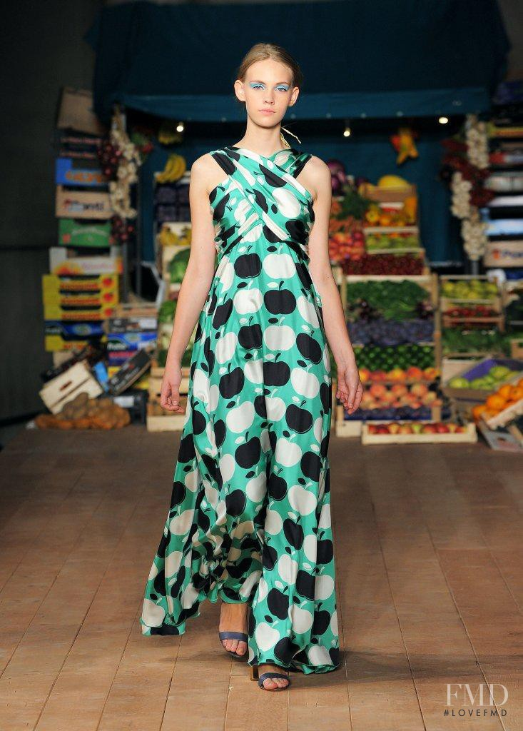 Charlotte Nolting featured in  the Boutique Moschino fashion show for Spring/Summer 2012