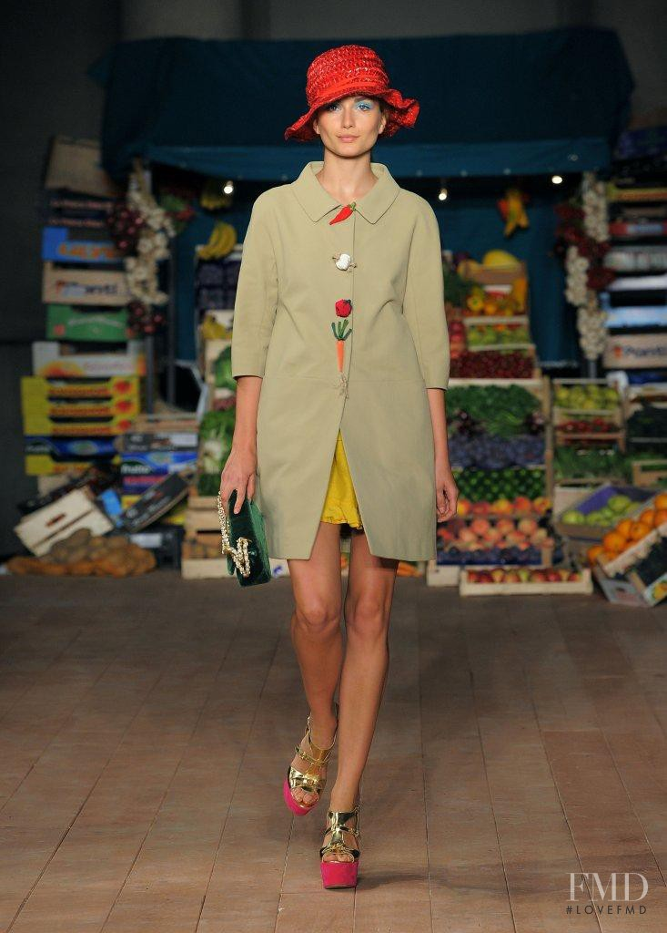 Andreea Diaconu featured in  the Boutique Moschino fashion show for Spring/Summer 2012