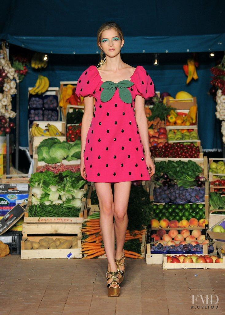Lydia Carron featured in  the Boutique Moschino fashion show for Spring/Summer 2012