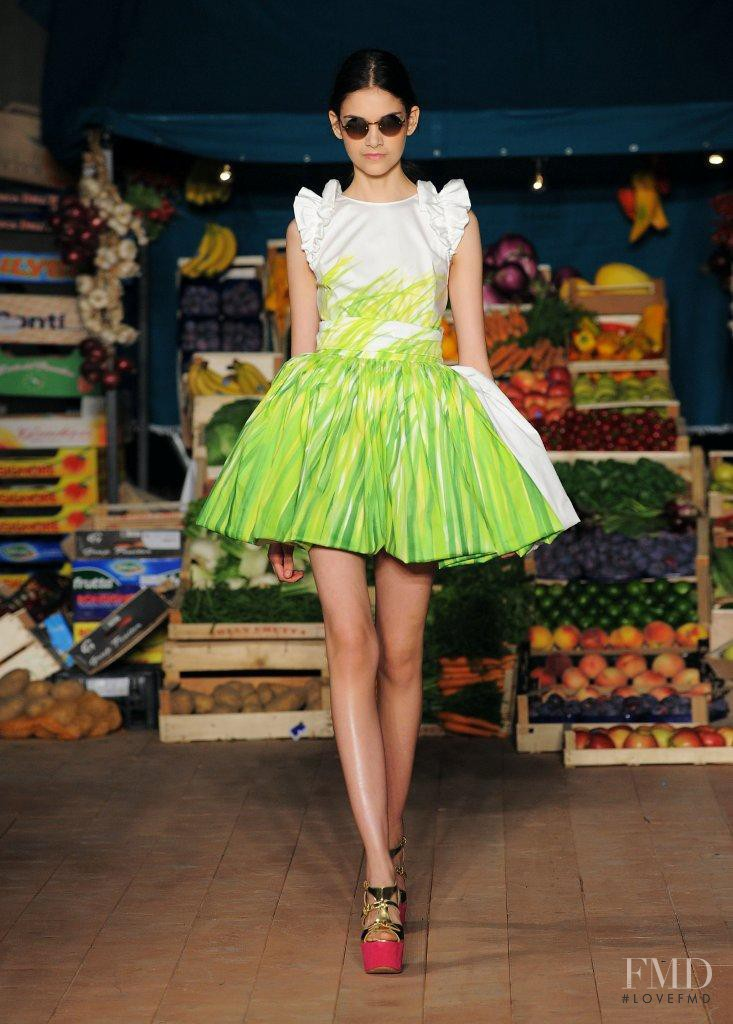 Isabella Melo featured in  the Boutique Moschino fashion show for Spring/Summer 2012