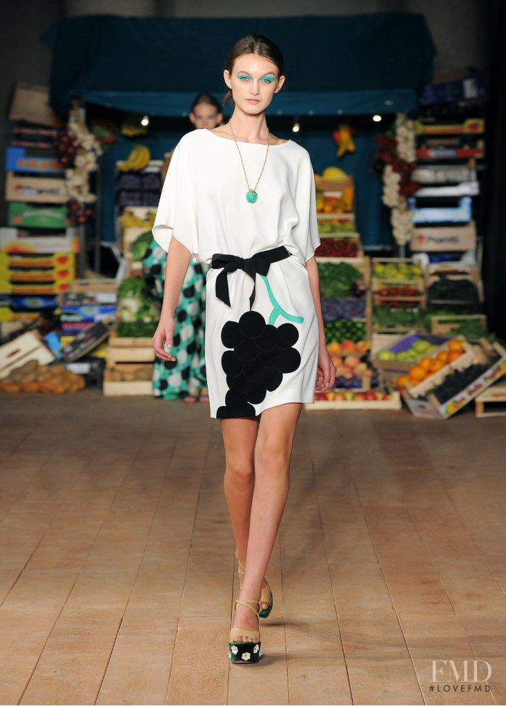 Andie Arthur featured in  the Boutique Moschino fashion show for Spring/Summer 2012
