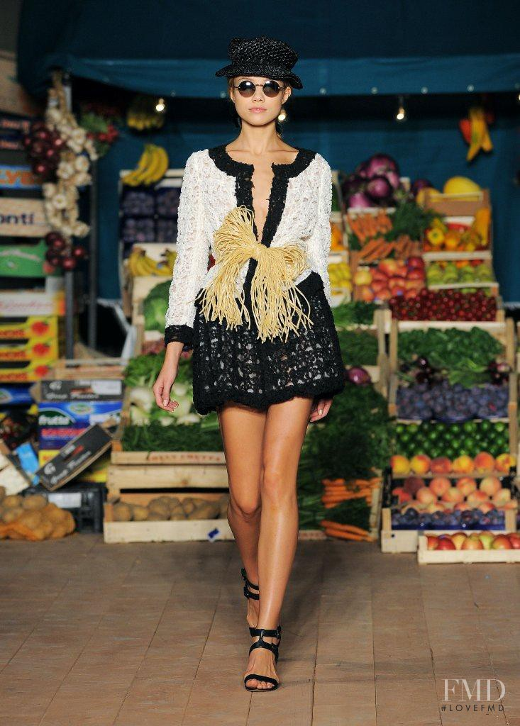 Anastasia Krivosheeva featured in  the Boutique Moschino fashion show for Spring/Summer 2012