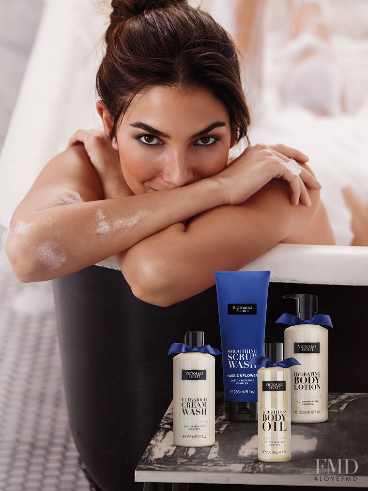 Lily Aldridge featured in  the Victoria\'s Secret Beauty advertisement for Spring/Summer 2016
