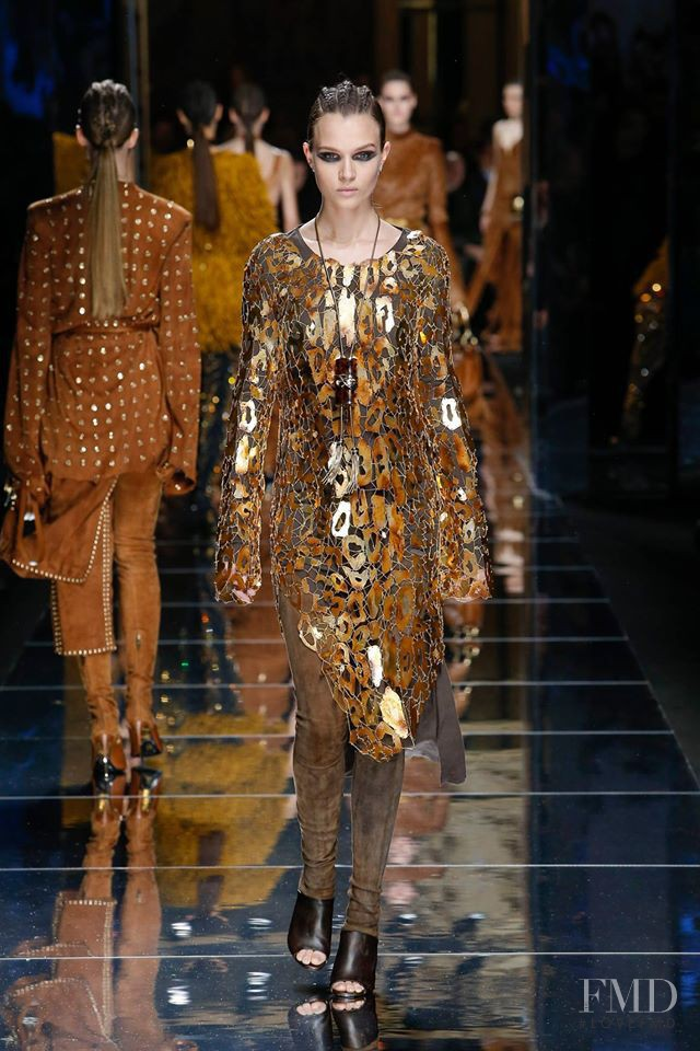 Josephine Skriver featured in  the Balmain fashion show for Autumn/Winter 2017