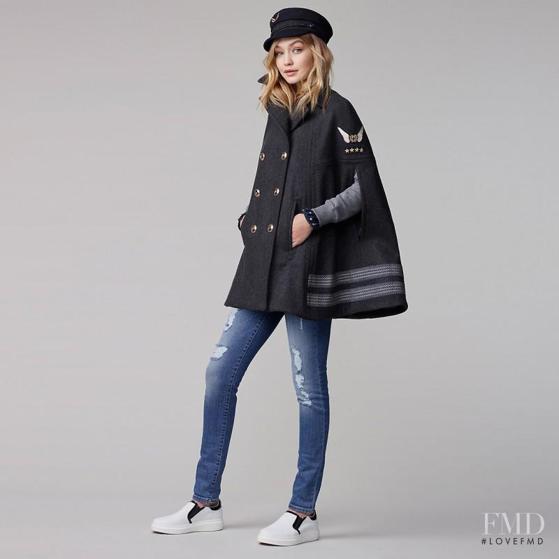 Gigi Hadid featured in  the Tommy Hilfiger x Gigi Hadid lookbook for Autumn/Winter 2016