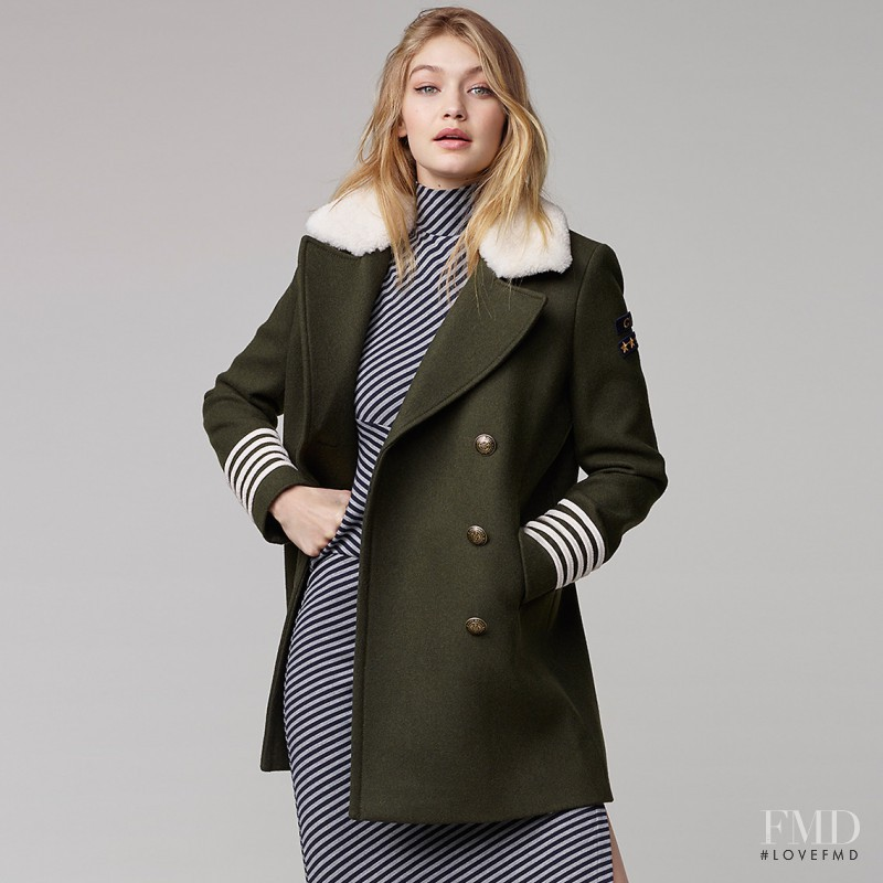 Gigi Hadid featured in  the Tommy Hilfiger x Gigi Hadid lookbook for Autumn/Winter 2016