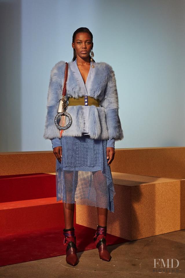 Kai Newman featured in  the Diane Von F�rstenberg fashion show for Autumn/Winter 2017