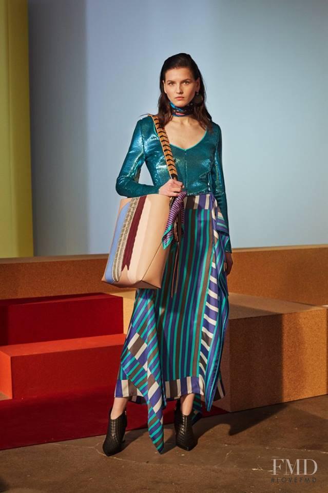 Katlin Aas featured in  the Diane Von F�rstenberg fashion show for Autumn/Winter 2017