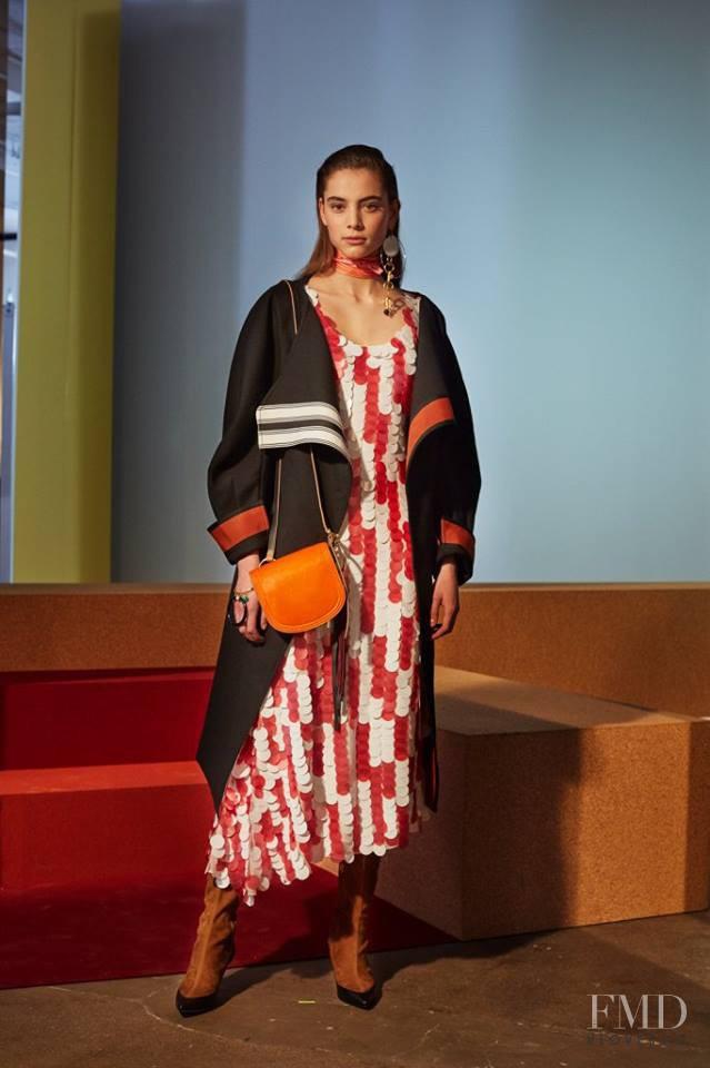Romy Schönberger featured in  the Diane Von F�rstenberg fashion show for Autumn/Winter 2017