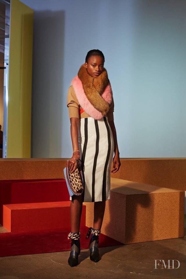 Mayowa Nicholas featured in  the Diane Von F�rstenberg fashion show for Autumn/Winter 2017
