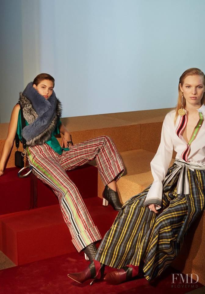 Grace Elizabeth featured in  the Diane Von F�rstenberg fashion show for Autumn/Winter 2017