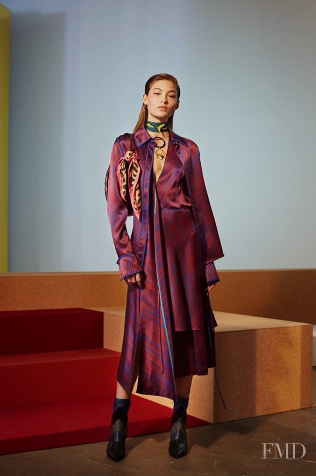 Grace Elizabeth featured in  the Diane Von F�rstenberg fashion show for Autumn/Winter 2017