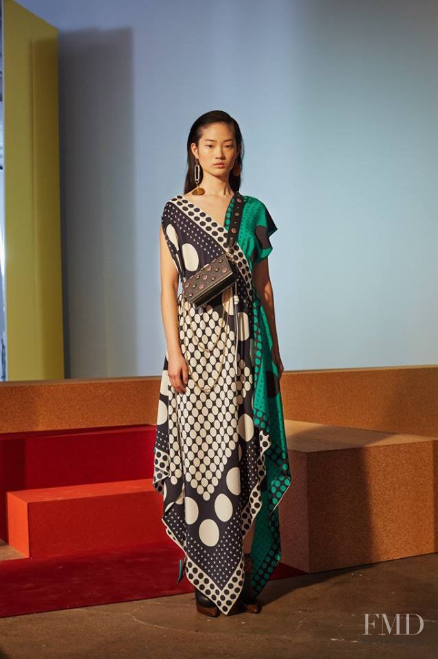 Cong He featured in  the Diane Von F�rstenberg fashion show for Autumn/Winter 2017