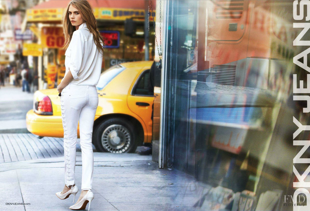 Photo feat  Cara Delevingne - DKNY Jeans - Spring/Summer
