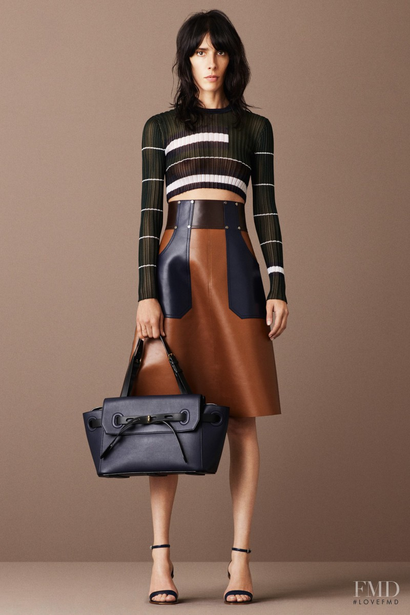 Jamie Bochert featured in  the Bally lookbook for Resort 2016