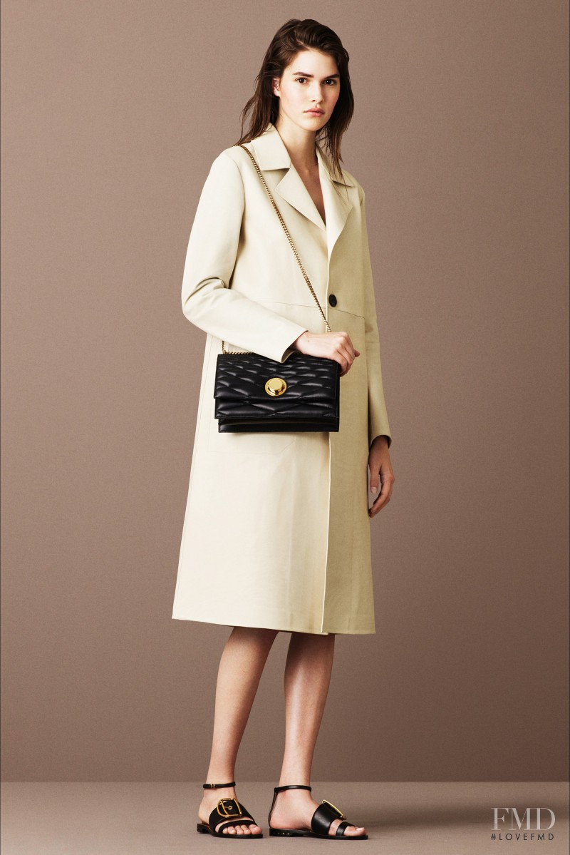Vanessa Moody featured in  the Bally lookbook for Resort 2016