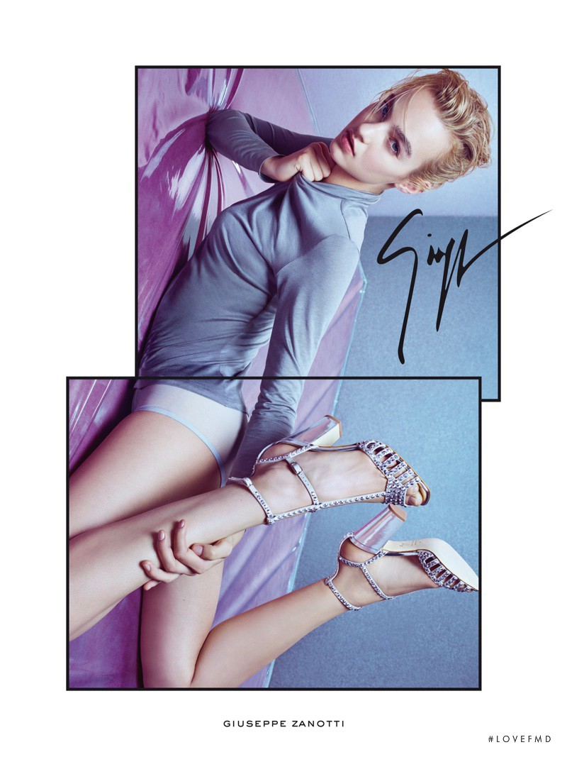 Maartje Verhoef featured in  the Giuseppe Zanotti advertisement for Spring/Summer 2017