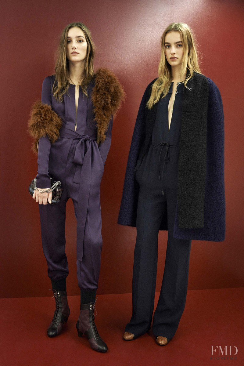 Maartje Verhoef featured in  the Sonia Rykiel lookbook for Pre-Fall 2015