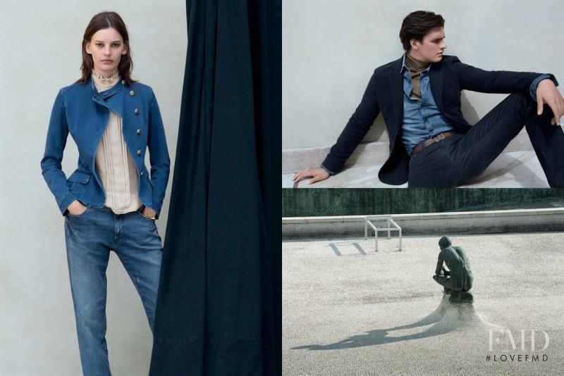 Amanda Murphy featured in  the Trussardi Jeans advertisement for Autumn/Winter 2015