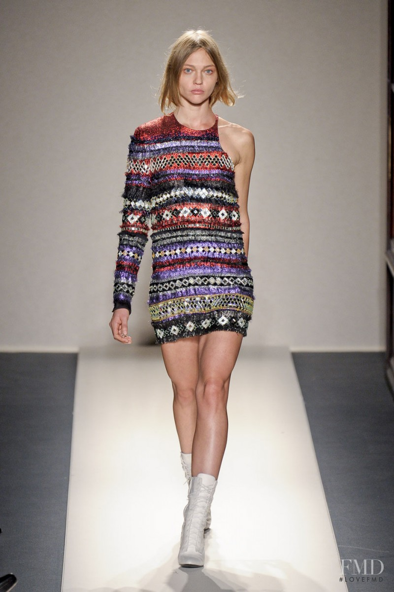 Sasha Pivovarova featured in  the Balmain fashion show for Autumn/Winter 2011