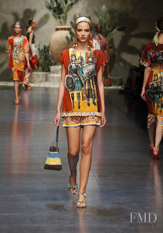 Roberta Cardenio featured in  the Dolce & Gabbana fashion show for Spring/Summer 2013