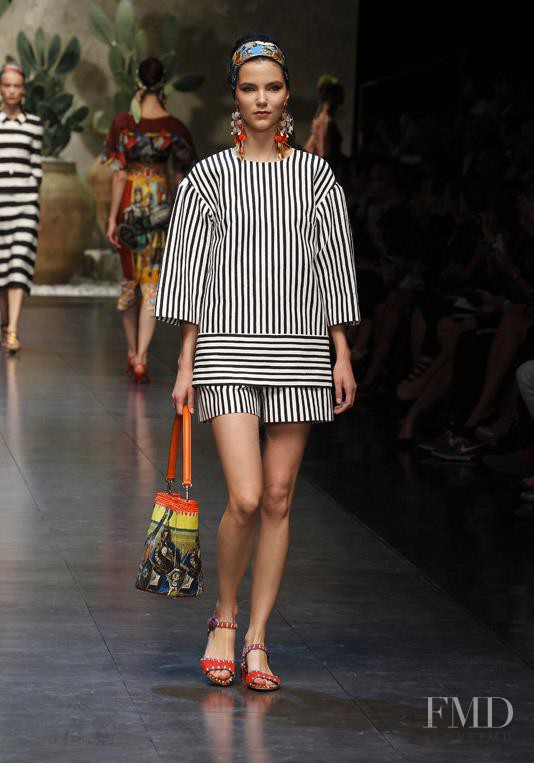 Agnes Nabuurs featured in  the Dolce & Gabbana fashion show for Spring/Summer 2013