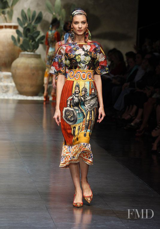 Kati Nescher featured in  the Dolce & Gabbana fashion show for Spring/Summer 2013