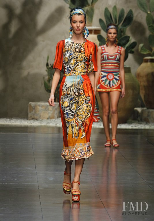 Kate King featured in  the Dolce & Gabbana fashion show for Spring/Summer 2013