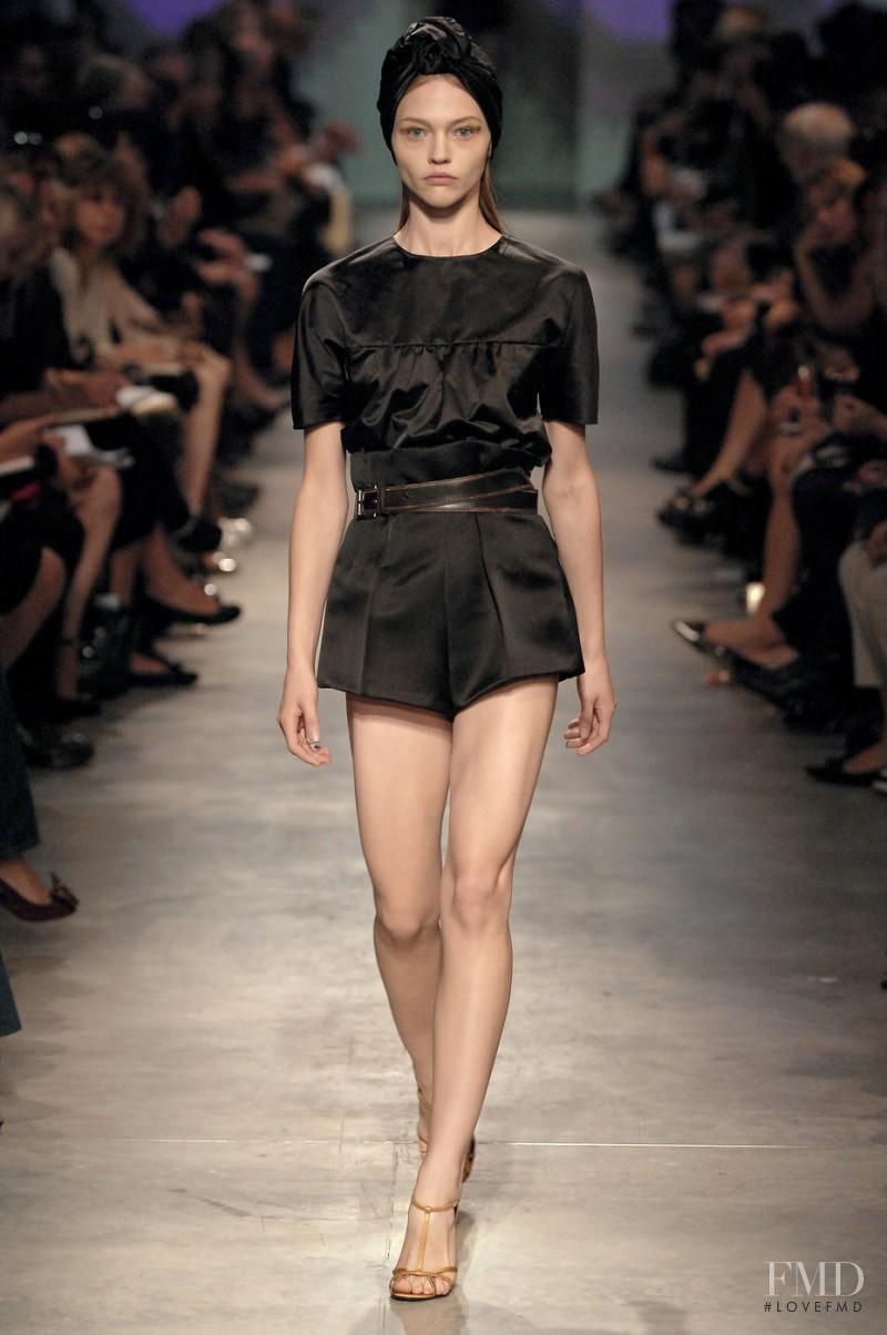 Sasha Pivovarova featured in  the Prada fashion show for Spring/Summer 2007