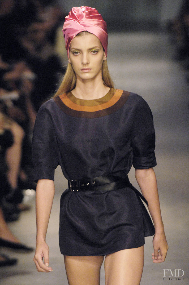 Denisa Dvorakova featured in  the Prada fashion show for Spring/Summer 2007
