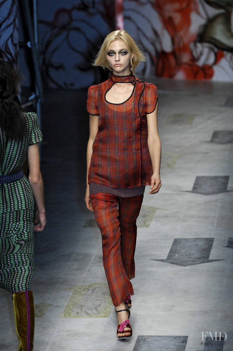 Sasha Pivovarova featured in  the Prada fashion show for Spring/Summer 2008