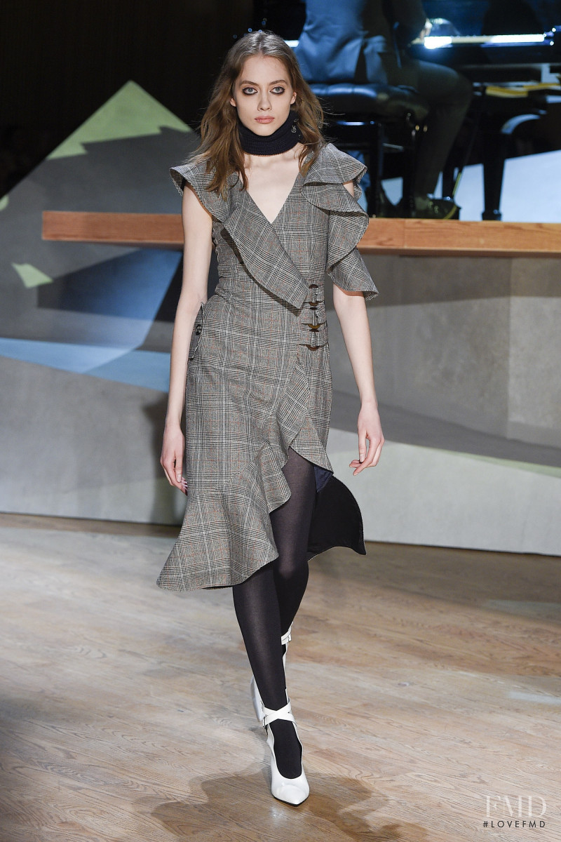 Odette Pavlova featured in  the Self Portrait fashion show for Autumn/Winter 2017