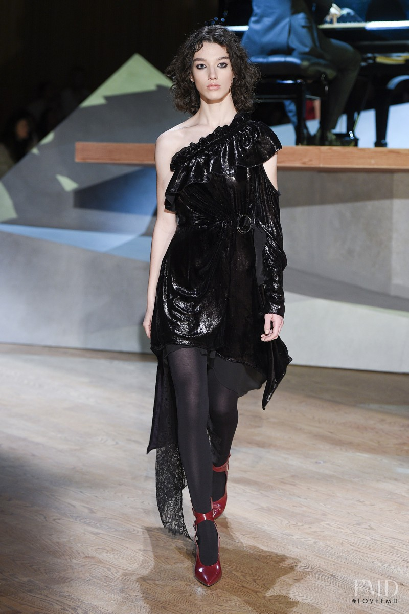 McKenna Hellam featured in  the Self Portrait fashion show for Autumn/Winter 2017