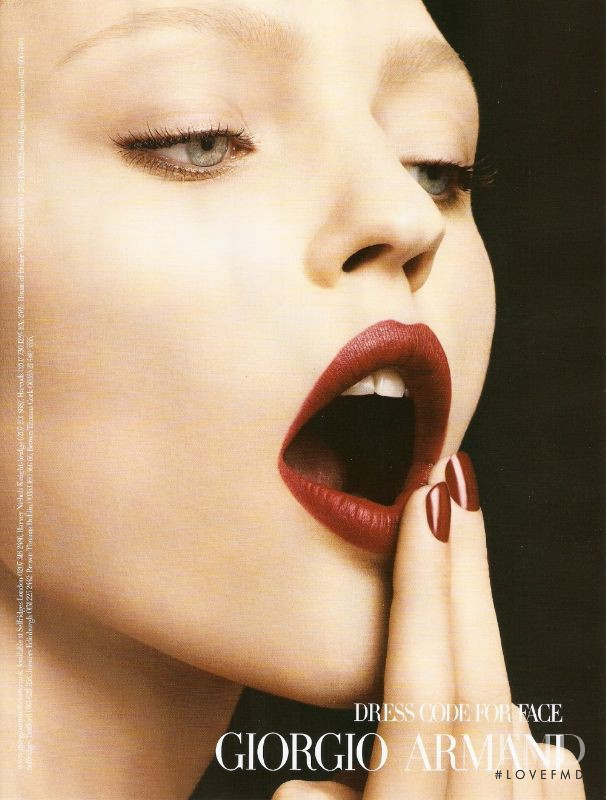 Sasha Pivovarova featured in  the Armani Beauty Dress Code For Face advertisement for Spring/Summer 2009