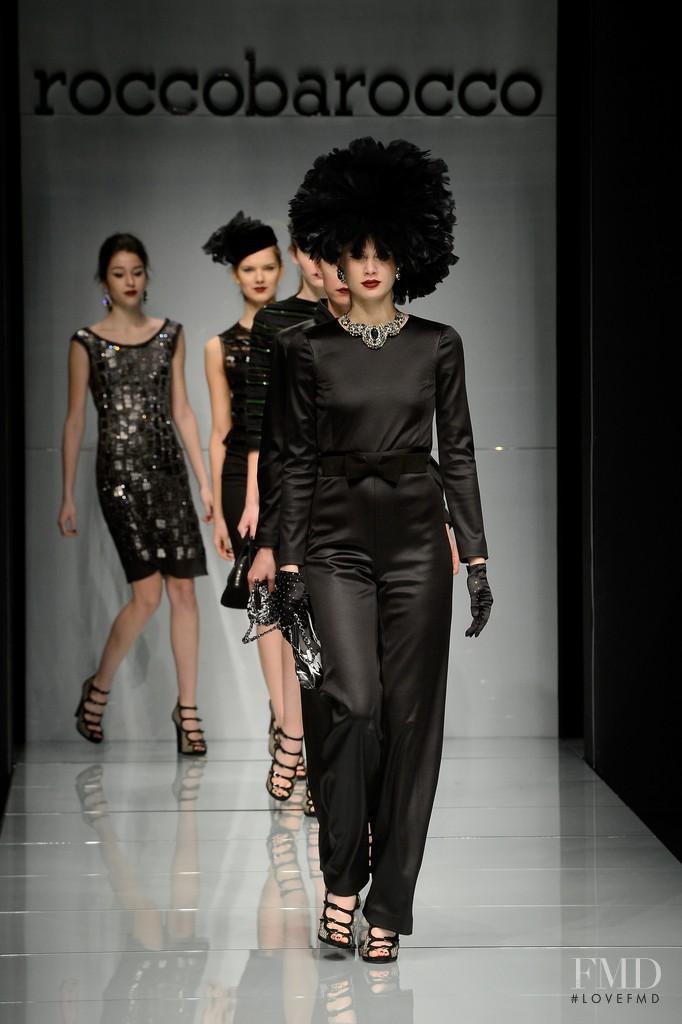 Livia Pillmann featured in  the roccobarocco fashion show for Autumn/Winter 2015
