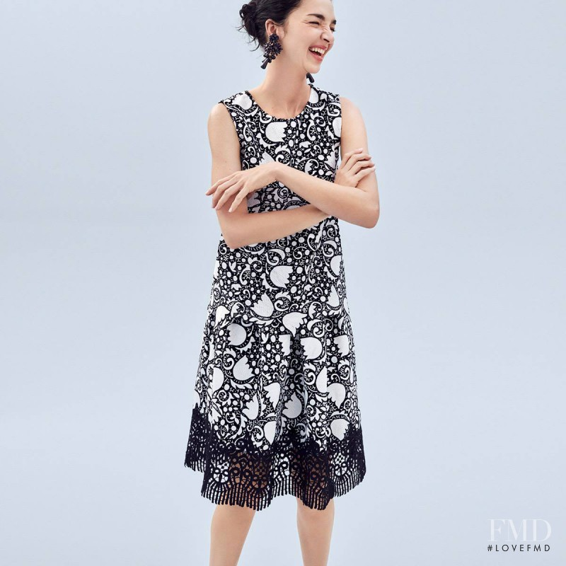 Fei Fei Sun featured in  the Ann Taylor advertisement for Spring/Summer 2017