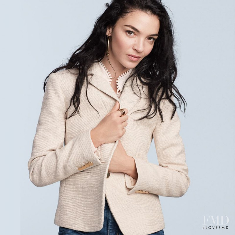 Mariacarla Boscono featured in  the Ann Taylor advertisement for Spring/Summer 2017
