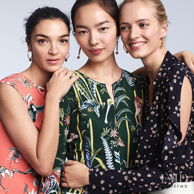 Daria Strokous featured in  the Ann Taylor advertisement for Spring/Summer 2017