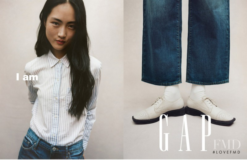 Jing  Wen featured in  the Gap advertisement for Spring/Summer 2017