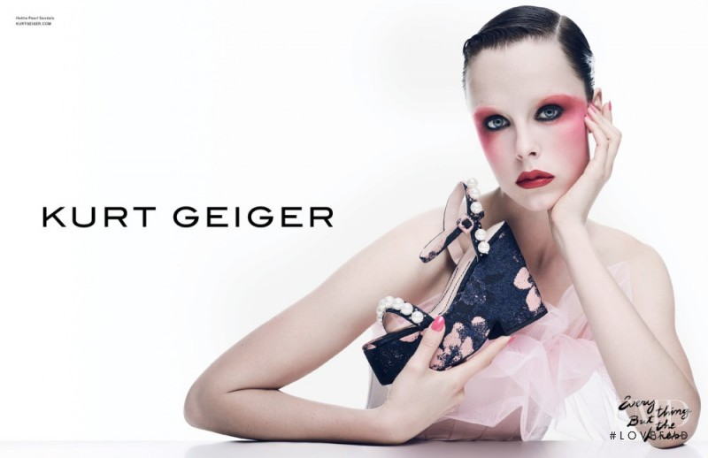 Edie Campbell featured in  the Kurt Geiger advertisement for Spring/Summer 2017