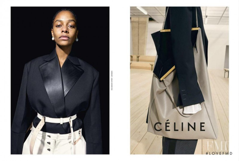 Karly Loyce featured in  the Celine advertisement for Spring/Summer 2017