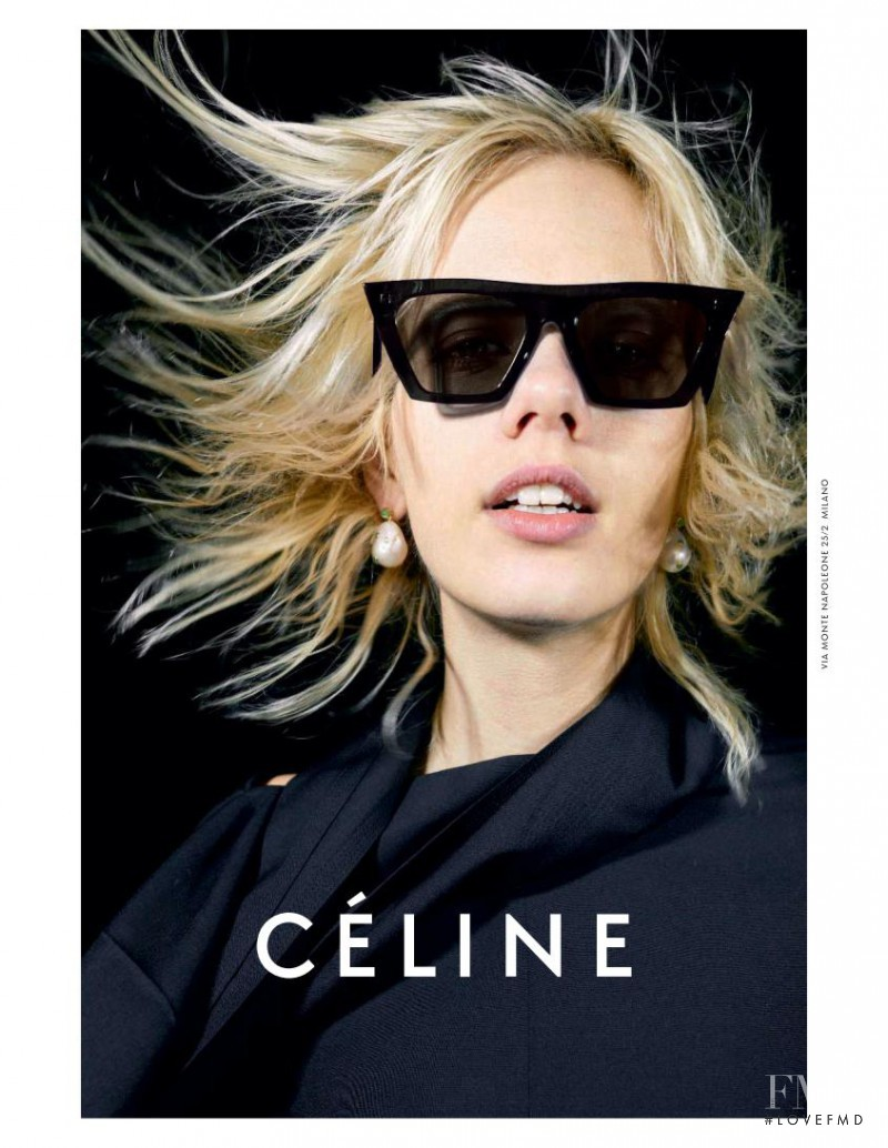 Marjan Jonkman featured in  the Celine advertisement for Spring/Summer 2017