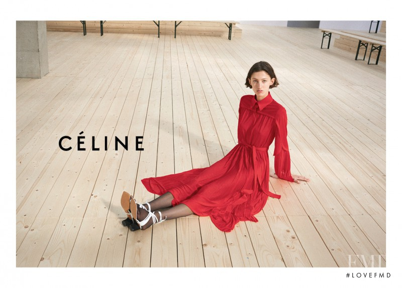Amber Witcomb featured in  the Celine advertisement for Spring/Summer 2017