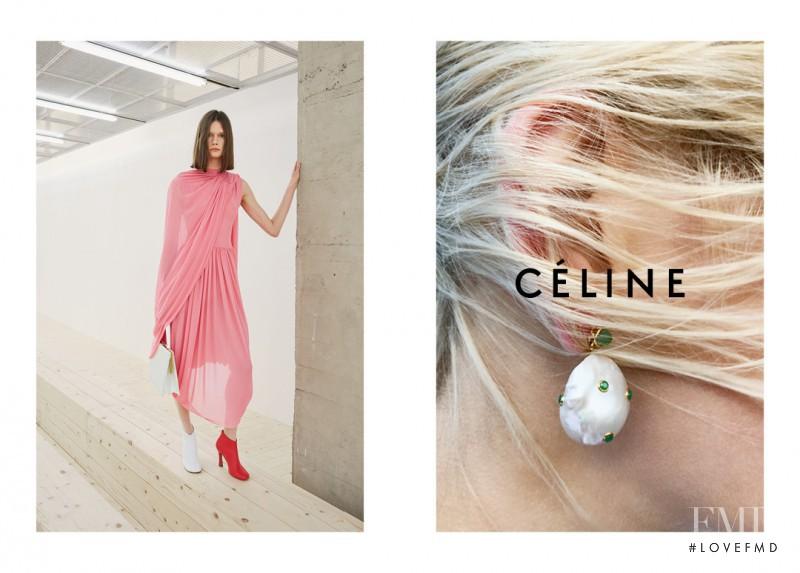 Daniela Kocianova featured in  the Celine advertisement for Spring/Summer 2017