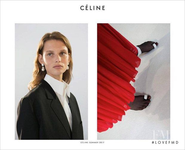 Giedre Dukauskaite featured in  the Celine advertisement for Spring/Summer 2017